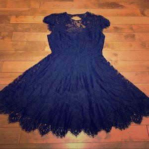 BB Dakota Navy Lace Dress / Bridesmaids Dress
